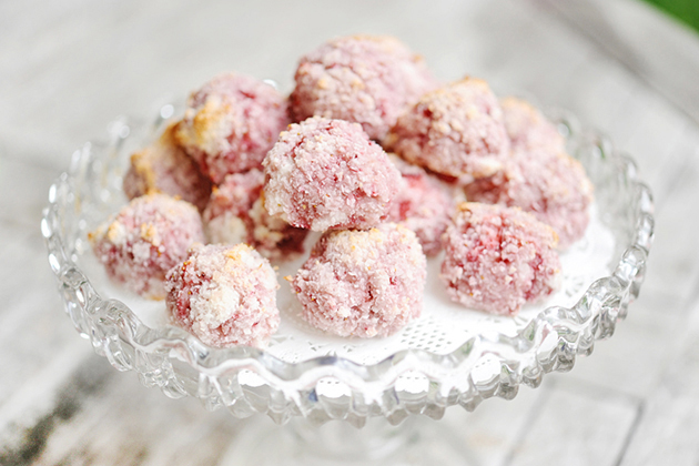 Tasty Kitchen Blog: Strawberry Coconut Macaroons. Guest post by Georgia Pellegrini, recipe submitted by TK member Chelsy of Mangia.