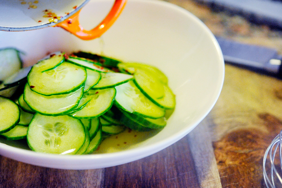 Tasty Kitchen Blog: Spicy Pickled Cucumbers. Guest post by Georgia Pellegrini, recipe submitted by TK member Heather Christo of Heather Christo Cooks.