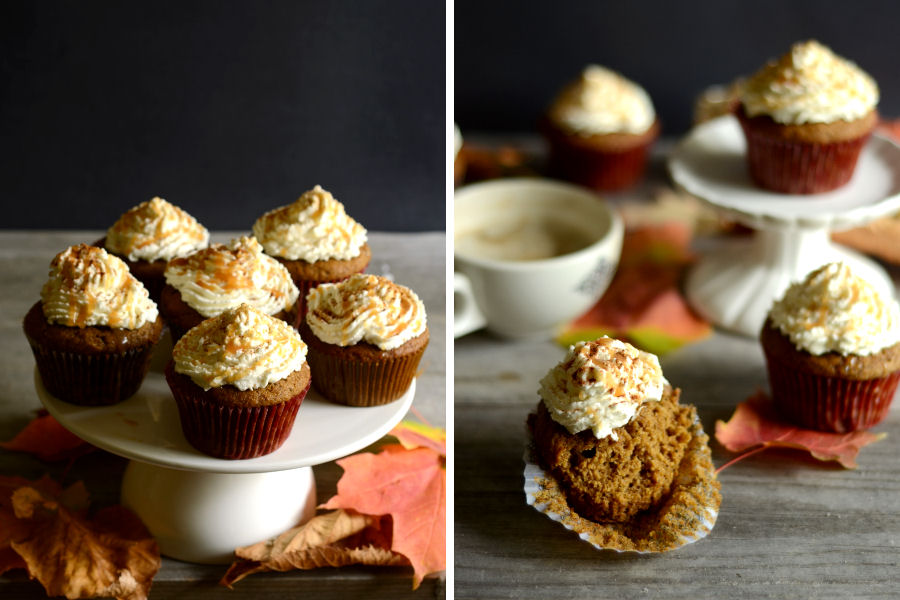 Tasty Kitchen Blog: Pumpkin Spice Latte Cupcakes. Guest post by Erica Kastner of Cooking for Seven, recipe submitted by TK member Ann Marsh of Annie's Eats.