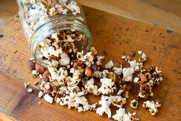 Tasty Kitchen Blog: Gingerbread Popcorn. Guest post by Georgia Pellegrini, recipe submitted by TK member Faith Gorsky of An Edible Mosaic.