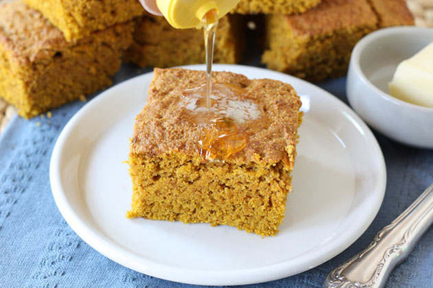Tasty Kitchen Blog: Pumpkin Cornbread. Guest post and photo by Maria Lichty of Two Peas and Their Pod, recipe submitted by TK member Tracy of Sugarcrafter.