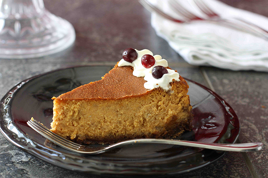 Tasty Kitchen Blog: Perfect Pumpkin Cheesecake. Guest post and photo by Dara Michalski of Cookin' Canuck, recipe submitted by TK member Brenda of A Farmgirl's Dabbles.