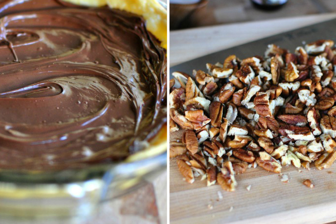 Tasty Kitchen Blog: Nutella Pecan Pie. Guest post by Laurie McNamara of Simply Scratch, recipe submitted by TK member Megan of Wanna Be A Country Cleaver.