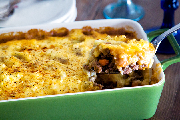 Tasty Kitchen Blog: Cottage Pie with Yukon Potato Topping. Guest post by Gaby Dalkin of What's Gaby Cooking, recipe submitted by TK member Sheilah of Sheilah's Kitchen.
