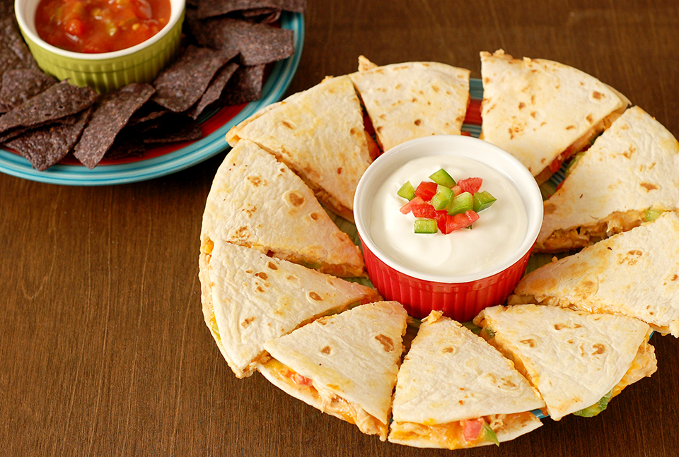 Tasty Kitchen Blog: Everything Buffalo! (Buffalo Chicken Quesadillas, submitted by TK member Jessica of A Kitchen Addiction)