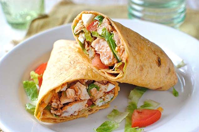 Tasty Kitchen Blog: Everything Buffalo! (Buffalo Chicken Wraps, submitted by TK member Bev Weidner)