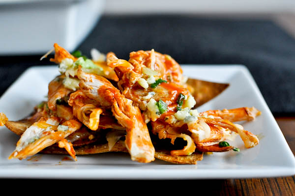 Tasty Kitchen Blog: Everything Buffalo! (Layered Baked Buffalo Chicken Nachos, submitted by TK member Jessica of How Sweet It Is)