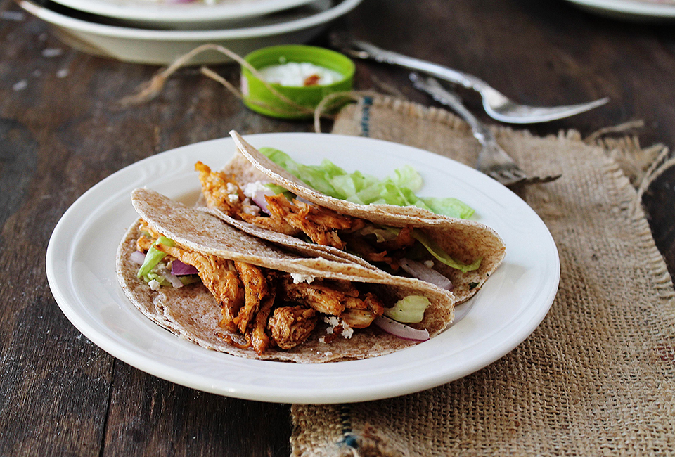 Tasty Kitchen Blog: Everything Buffalo! (Shredded Buffalo Chicken Tacos, submitted by TK member Kate of Diethood)