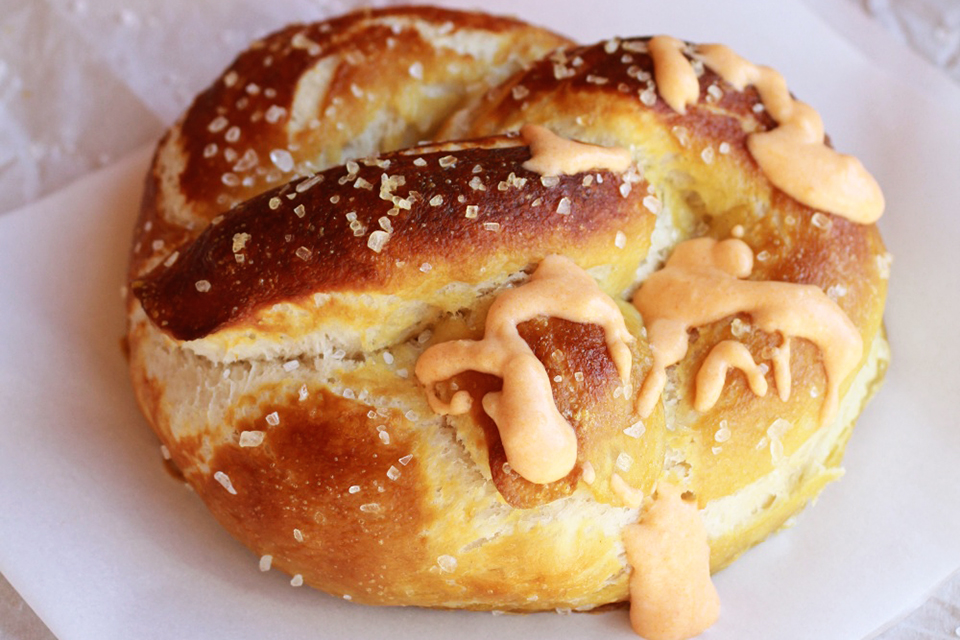 Tasty Kitchen Blog: Everything Buffalo! (Soft Pretzels with Hot Buffalo Cheese Sauce, submitted by TK member Tieghan of Half Baked Harvest)
