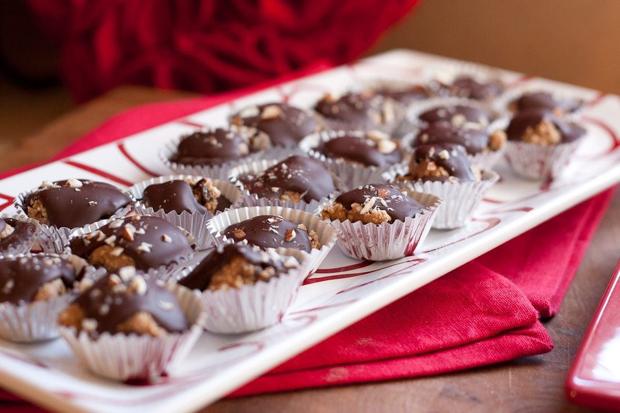 Tasty Kitchen Blog: Dark Chocolate Cookie Dough Cups. Guest post by Natalie Perry of Perry's Plate, recipe submitted by TK member Adrienne Jacobs of This Country Girl Cooks.