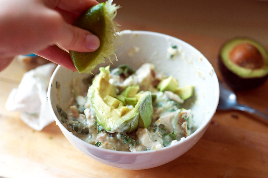Tasty Kitchen Blog: Guacamole Chicken Salad. Guest post by Georgia Pellegrini, recipe submitted by TK member Natalie Perry of Perry's Plate.