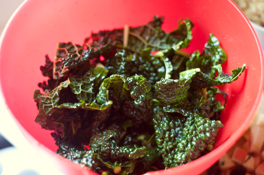 Tasty Kitchen Blog: Massaged Kale Salad. Guest post by Georgia Pellegrini, recipe submitted by TK member Karla (KGracie71) of Forty Cakes.
