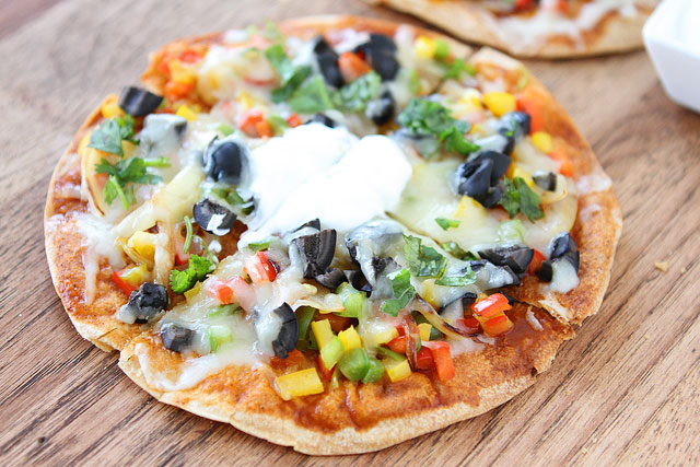 Tasty Kitchen Blog: Open-Faced Enchilada Veggie Quesadillas. Guest post by Maria Lichty of Two Peas and Their Pod, recipe submitted by TK member Amber of Sprinkled with Flour.