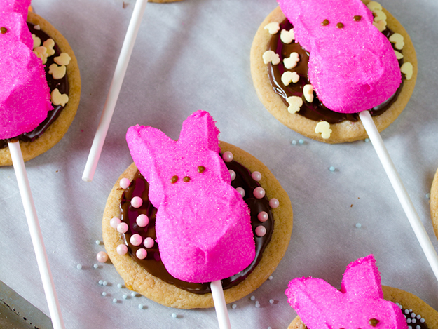 Tasty Kitchen Blog: Easter Cuteness. Easter S'mores Cookie Pops from TK member Sommer of A Spicy Perspective.
