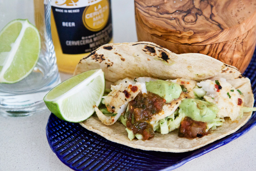 Tasty Kitchen Blog: Fish Tacos with Avocado Cabbage Slaw. Guest post by Gaby Dalkin of What's Gaby Cooking, recipe submitted by TK member Nam of The Culinary Chronicles