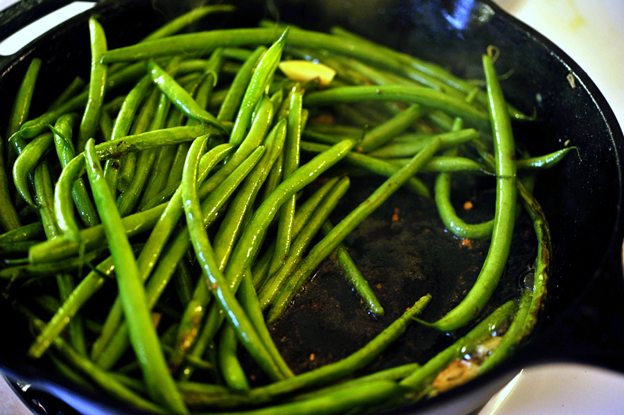 Tasty Kitchen Blog: Garlic Wasabi and Sage Green Beans. Guest post by Georgia Pellegrini, recipe submitted by TK member Nancy of The Coupon Clipping Cook.