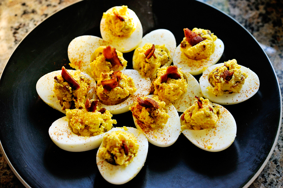 Bacon Horseradish Deviled Eggs | Tasty Kitchen Blog