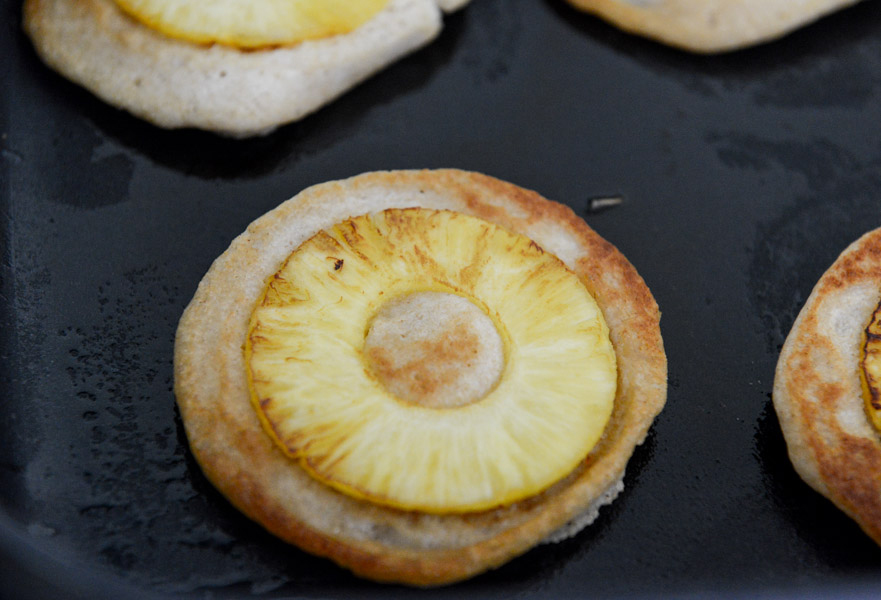 Tasty Kitchen Blog: Pineapple Upside Down Banana Pancakes. Guest post by Jessica Merchant of How Sweet It Is, recipe submitted by TK member Donna of Apron Strings.
