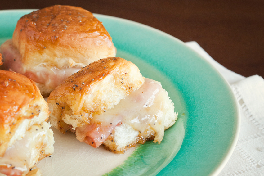 Tasty Kitchen Blog: Darn Good Ham and Cheese Sliders. Guest post by Amber Potter of Sprinkled with Flour, recipe submitted by TK member Lindsay of Perfecting the Pairing.