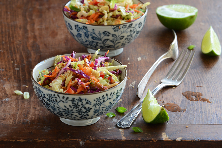 Tasty Kitchen Blog: Crunchy Asian Slaw. Guest post by Faith Gorsky of An Edible Mosaic, recipe submitted by TK member Andrea of Recipes for Divine Living.