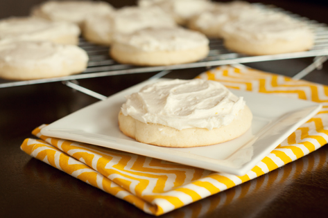 Tasty Kitchen Blog: Lemon Sugar Cookies With Lemon Buttercream Frosting. Guest post by Amber Potter of Sprinkled with Flour, recipe submitted by TK member Jennifer of Mother Thyme.