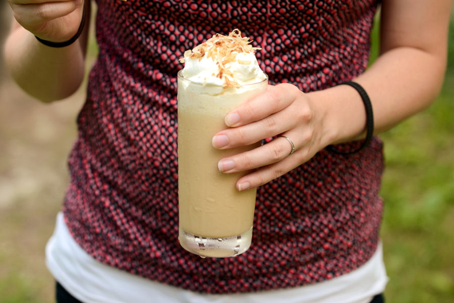 Tasty Kitchen Blog: Frozen Thai Iced Coffee. Guest post by Erica Kastner of Cooking for Seven, recipe submitted by TK member Stephanie of Girl Versus Dough.