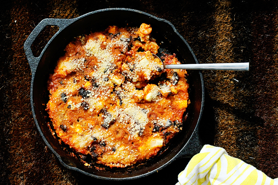 Tasty Kitchen Blog: Greek Roasted Shrimp with Olives and Feta. Guest post by Georgia Pellegrini, recipe submitted by TK member Marie of Little Kitchie.