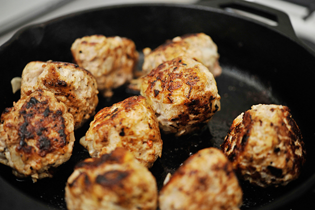 Tasty Kitchen Blog: Apple Meatballs in Wine Sauce. Guest post by Georgia Pellegrini, recipe submitted by TK member Nancy of Coupon Clipping Cook.