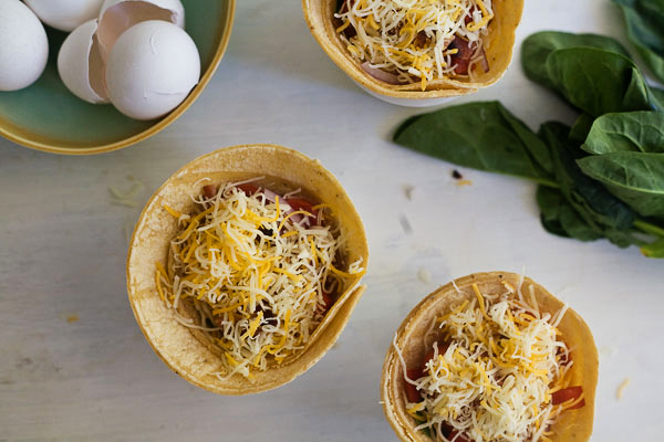 Tasty Kitchen Blog: Breakfast Taco Cups. Guest post by Adrianna of A Cozy Kitchen, recipe submitted by TK member Beverly of Bev Cooks.