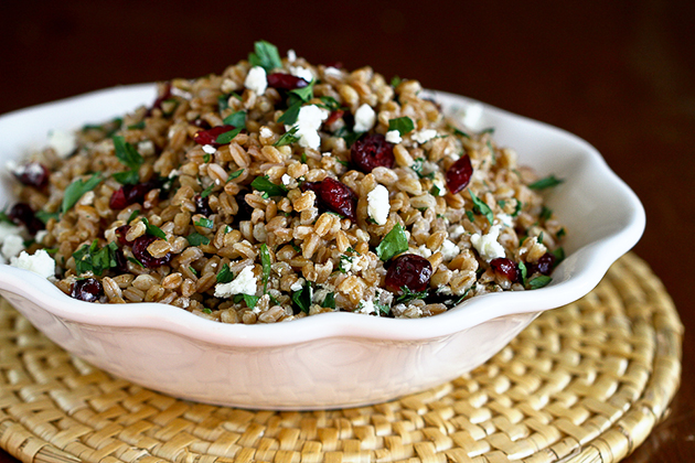 Tasty Kitchen Blog: Farro, Cranberry and Goat Cheese Salad. Guest post by Dara Michalski of Cookin' Canuck, recipe submitted by TK member Des of Life's Ambrosia.