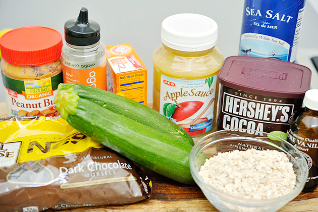 Tasty Kitchen Blog: Flourless Chocolate Chip Zucchini Oat Brownies. Guest post by Georgia Pellegrini, recipe submitted by TK member Monique of Ambitious Kitchen.