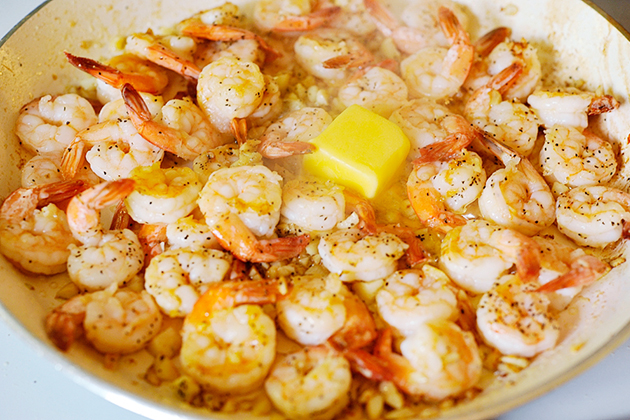 Tasty Kitchen Blog: Incredible 10-Minute Garlic Shrimp. Guest post by Georgia Pellegrini, recipe submitted by TK member Colleen of Souffle Bombay.