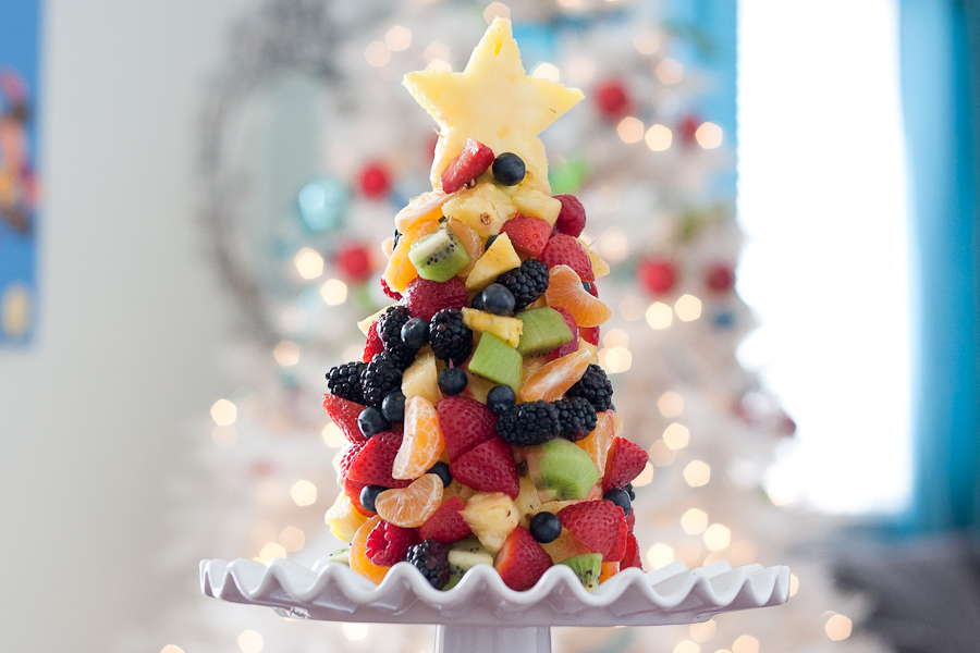 Tasty Kitchen Blog: Fruit Christmas Tree. Guest post by Natalie Perry of Perry's Plate, recipe submitted by TK member Vegan Momma of Live. Learn. Love. Eat.