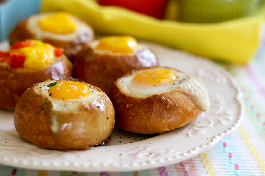 Customizable Bread Bowl Breakfast, guest post by Natalie Perry of Perry's Plate, recipe submitted by TK member Lindsay of Perfecting the Pairing