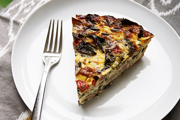 Tasty Kitchen Blog: Virtual Baby Shower! (featuring Sausage and Red Pepper Quiche, submitted by TK member Lindsay of Pinch of Yum)