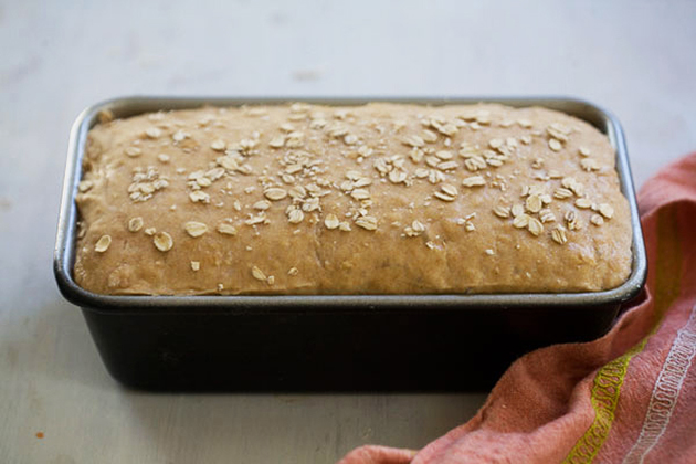 Tasty Kitchen Blog: Whole Wheat Honey Oatmeal Bread. Guest post by Adrianna Adarme of A Cozy Kitchen, recipe submitted by TK member Stephanie of Girl Versus Dough.