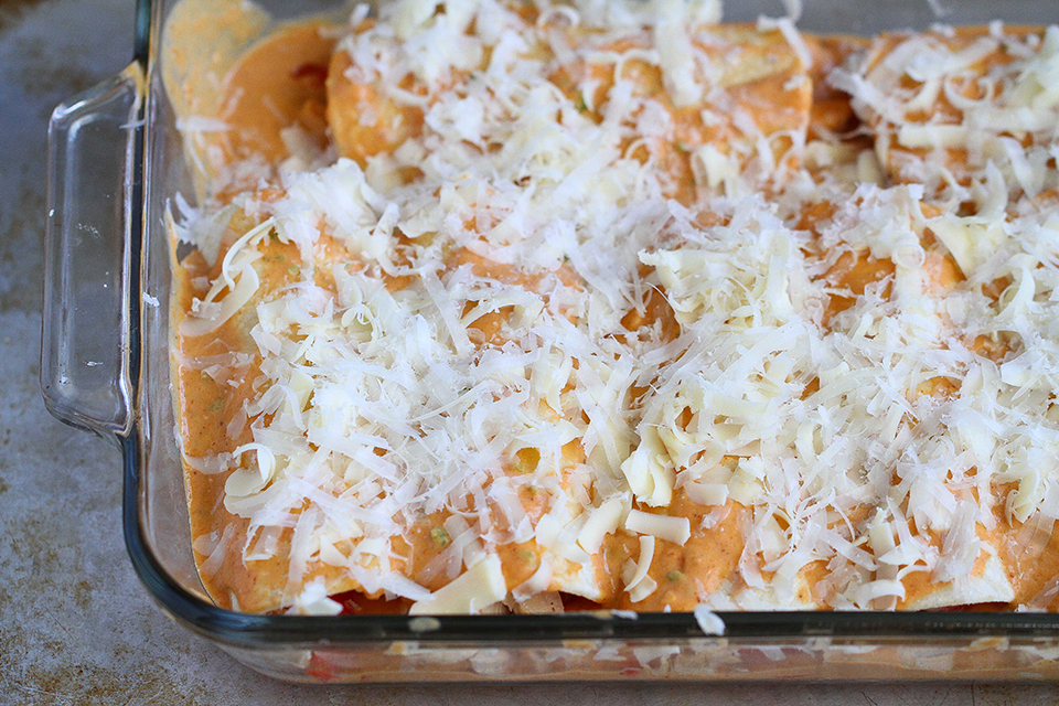 Tasty Kitchen Blog: Pumpkin Enchiladas. Guest post by Dara Michalski of Cookin' Canuck, recipe submitted by TK member Ann of How Crazy Cooks.