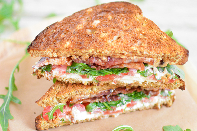 Tasty Kitchen: Looks Delicious! (Burrata BLT with Spicy Mayo, submitted by TK member Justine Sulia of Cooking and Beer)