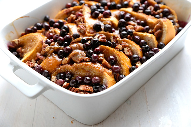 Tasty Kitchen Blog: Baked Blueberry Pecan French Toast. Guest post by Megan Keno of Country Cleaver, recipe submitted by TK member Melanie of Mel's Kitchen Cafe.