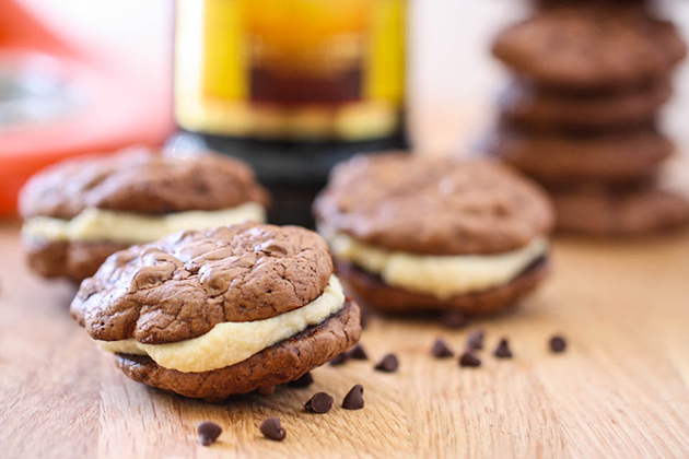Tasty Kitchen Blog: Tiramisu Sandwich Cookies. Guest post by Jenna Beaugh of Eat, Live, Run, recipe submitted by TK member Tanya Schroeder of Lemons for Lulu.
