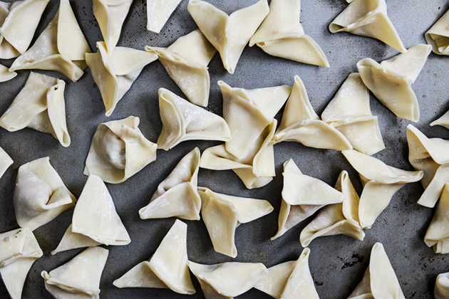 Tasty Kitchen Blog: Simple Wonton Soup. Guest post by Jessica Merchant of How Sweet It Is, recipe submitted by TK member Sarah of The Woks of Life.