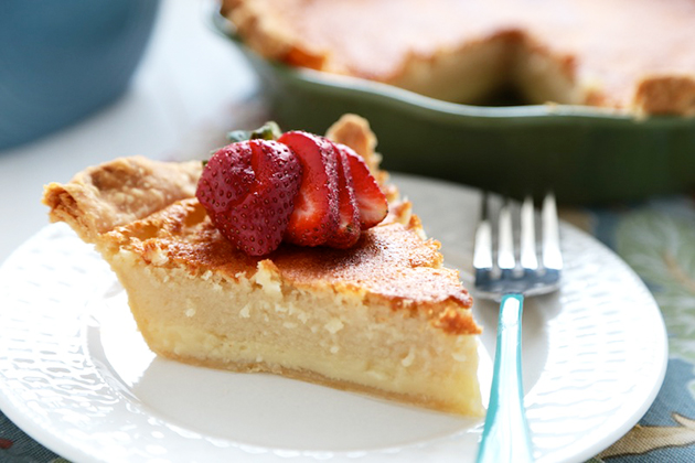 Tasty Kitchen Blog: Buttermilk Pie. Guest post by Megan Keno of Wanna Be a Country Cleaver, recipe submitted by TK member Cassie of Bake Your Day.
