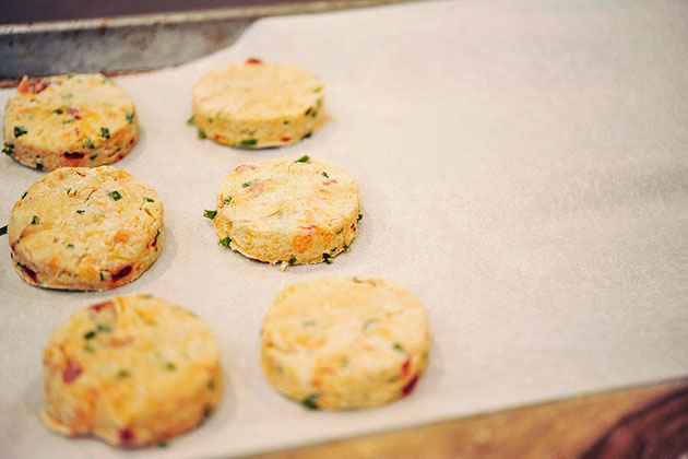 Tasty Kitchen Blog: Pimento Cheese Biscuits. Guest post by Georgia Pellegrini, recipe submitted by TK member Marie of Little Kitchie.