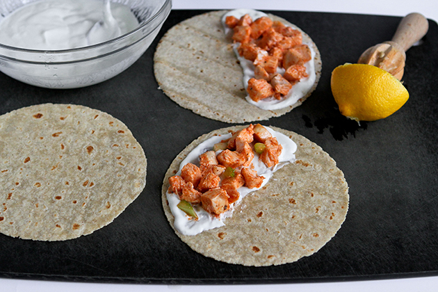 Tasty Kitchen Blog: Grilled Buffalo Chicken Quesadillas. Guest post by Dara Michalski of Cookin' Canuck, recipe submitted by TK member Phoebe of Feed Me Phoebe.