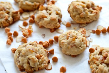 Tasty Kitchen Blog: Apricot Almond Butterscotch Cookies. Guest post by Megan Keno of Wanna Be a Country Cleaver, recipe submitted by TK member Nancy of The Bitter Side of Sweet.