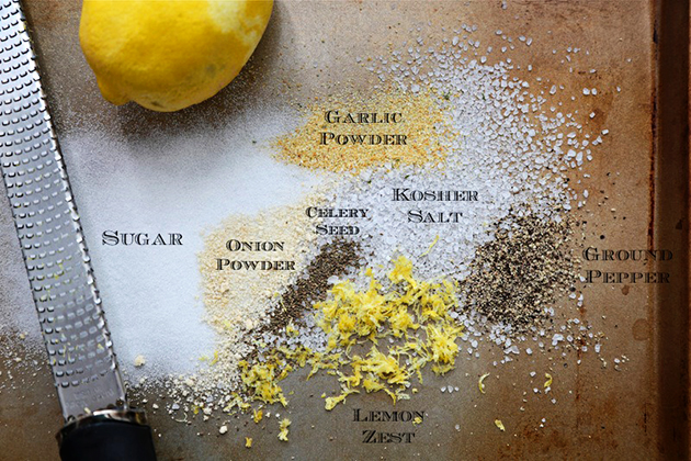 Tasty Kitchen Blog: Homemade Lemon Pepper Seasoning. Guest post by Megan Keno of Wanna Be a Country Cleaver, recipe submitted by TK member Rebecca of Foodie with Family.