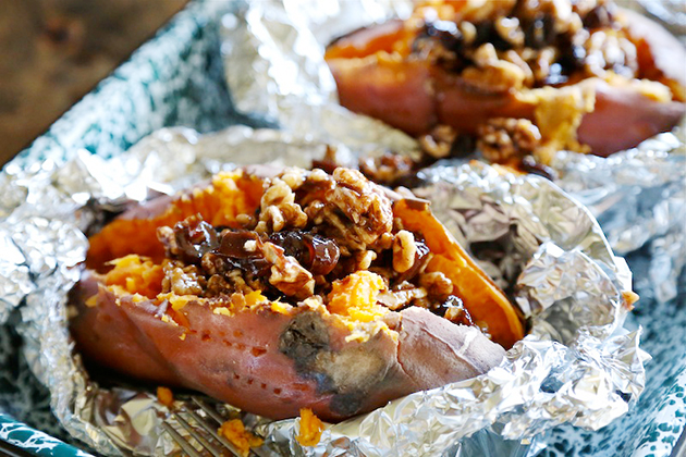 Tasty Kitchen Blog: Roasted Yams with Candied Walnuts and Raisins. Guest post by Megan Keno of Wanna Be a Country Cleaver, recipe submitted by TK member Julia of The Roasted Root.
