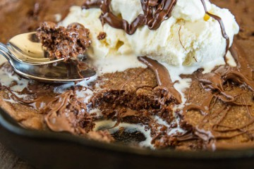Tasty Kitchen Blog: Looks Delicious! (Nutella Skillet Cookie, submitted by TK member Erin of Dinners, Dishes and Desserts)