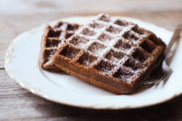 Tasty Kitchen Blog: Gingerbread Waffles. Guest post by Erica Kastner of Buttered Side Up, recipe submitted by TK member Emily of One Lovely Life.