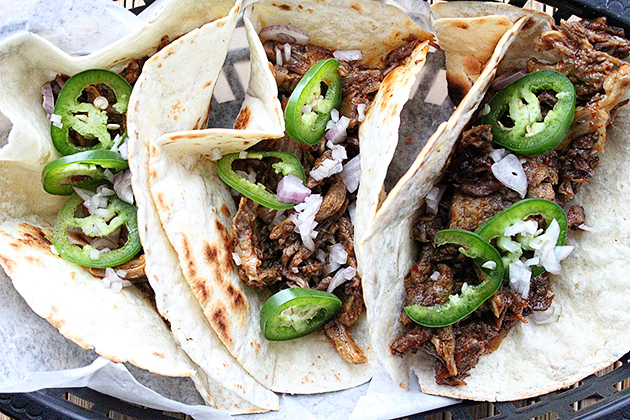 Tasty Kitchen Blog: Looks Delicious! Super Bowl Food (Spicy Beef and Kimchi Tacos, submitted by TK member Dax Phillips of Simple Comfort Food)